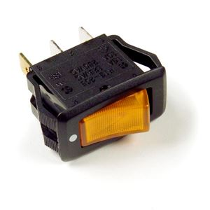 Picture of 82-1902, Rocker Switch - Illuminated Yellow, 3 Blade, SPST, 2 Position On/Off