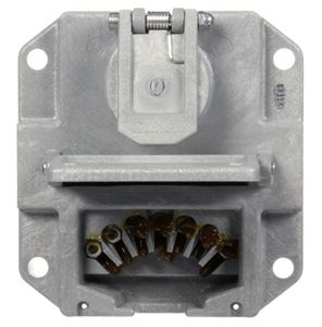 Picture of 50805, Nose Box without Circuit Breakers - 50 Series, 7 Solid Pin, Grey PolyCarbonate, Surface Mount