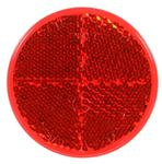 "Picture of 45, Reflector - 2.187"" Red, Round, Stick on Adhesive"
