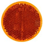 "Picture of 45A, Reflector - 2.187"" Amber, Round, Stick on Adhesive"