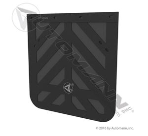 """Picture of 562.102424, Mud Flap - Chevron Style 24"""" x 24"""", Rubber 3/16"""" Thick Black"""