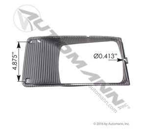 Picture of 564.55031, Headlamp Bezel Navistar International IHC Applications LH - Dawson IB0160L, Grote 01556574, Navistar IHC 1661763C1, 3000077C1