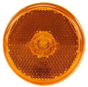 """Picture of 10208Y, 2.5"""" Incandescent Yellow Clearance Marker Light - Reflectorized, Shock Mount"""
