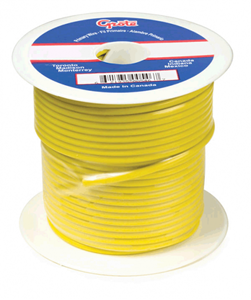 Picture of 87-6011, 12 GA Primary Wire Yellow - 100 Feet, SAE J1128, PVC Insulated, Rated to 60V