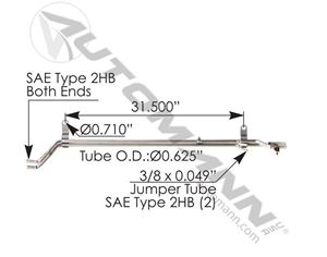 Picture of 561.46343, Tube Heater Manifold Assembly - Freightliner A04-29343-002, A0429343002