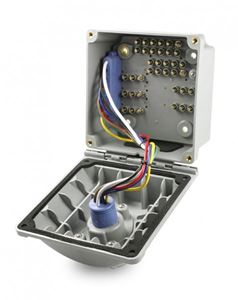 Picture of 87151, Split Pin Nose Box - 7 Threaded Posts, Standard J560b, 39 Pin Connections, Hinged Door