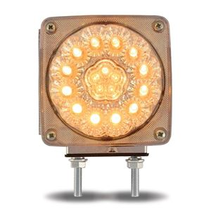 Picture of TLED-SDFR3C, LED Double Face Pedestal Light - Clear Amber / Clear Red - Can be Used as Turn Signal or Marker Light, Double Post, Passenger Side